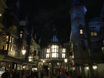 A night stroll through Diagon Alley.