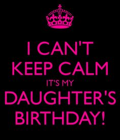 daughter bday