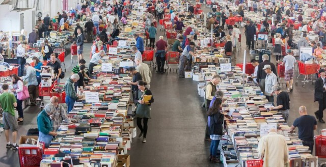 Big Book Sale Crowd