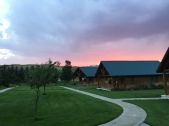 Sunset view from our cabin at Chico Hot Springs
